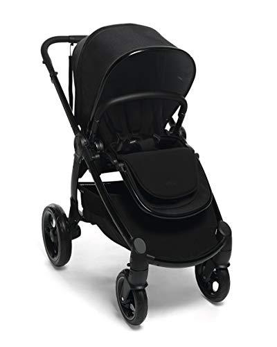 Mamas & Papas Ocarro All Terrain Puschair, Buggy, Pram, One Hand Fold, Puncture-Proof Tyres, Extendable Hood & Adjustable Lie Flat Seat - Raven