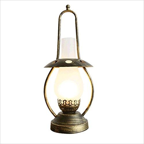 Preisvergleich Produktbild HUANGDA Retro American Glas Tischlampe,  Vintage Kerosin Lampe,  chinesische Wohnzimmer Nachttisch Dekoration Tischlampe,  kreative nostalgische Bar Cafe Beleuchtung