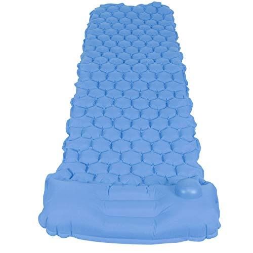 Omabeta Colchoneta de dormir ligera duradera inflable para dormir colchón inflable 3-dimensional cama de aire 40D tela de nylon para playa y camping (azul pavo real)