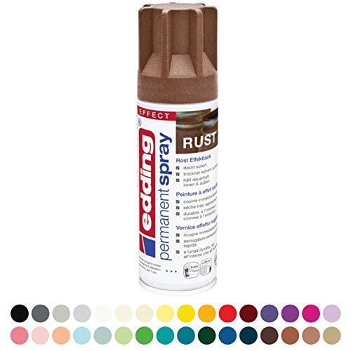 edding 5200 Permanent-Spray - rost-effekt matt - 200 ml - Acryllack zum Lackieren und Dekorieren von Glas, Metall, Holz, Keramik, lackierb. Kunststoff, Leinwand, u. v. m. - Sprühfarbe