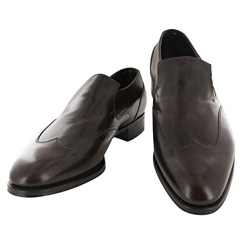 John Lobb Dark Brown Calf Leather Wingtip Loafers 12 D/11 F