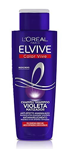 L Oreal Paris Elvive Color Vive - Champú Violeta Matizador para Pelo Teñido, Rubio, Decolorado o Gris - Pack Ahorro de 3 Unidades x 200 ml, Total: 600 ml