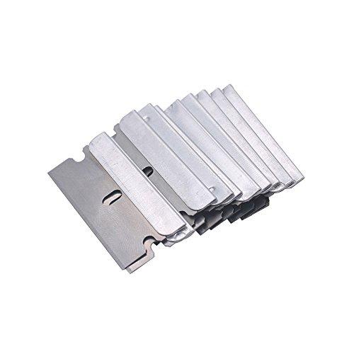 Gebildet Rascador de vidrio y vitrocerámica - Especial para Vitro-Cerámicas y Placas de Inducción-20 piezas Acero Inoxidable Cuchillas