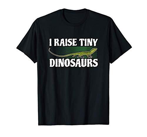 I Raise Tiny Dinosaurs Grüne Anolis Reptil Anole Eidechse T-Shirt