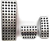 JYSFSS Pedales de Coche Pedales de Acelerador de Cubierta de Acero Inoxidable Pedales de Descanso Estilo de Coche, Apto para Infiniti Q30 Q30S QX30 2016 + -Conjunto Completo