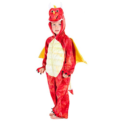 Red Dinosaur Dragon - Kids Costume 3 - 5 years