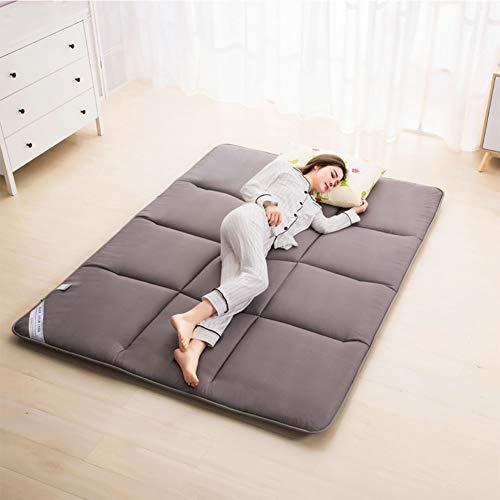 FSYGZJ Matelas Pliable IKEA Adulte Thicken Tatami Respirante Confort Portable Matelas futon invité Tapis de Sol Pliable Double Matelas pour la Maison Camping,Gris,120 * 200cm