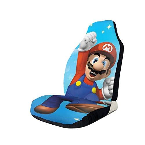 Lovely baby-Z Fundas de asiento de coche Games Su-per Ma-Rio Protector de asiento delantero impreso 3D asientos universales fundas antideslizantes, se adapta a la mayoría de coches, sedan, SUV Truck