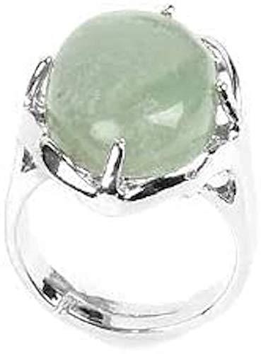 Piedras - Anillo cabujón protector mineral, Jade,