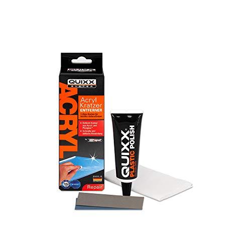 QUIXX 50252 Acryl Kratzer-Entferner für Acryl- und in PLEXIGLAS-Oberflächen | Kratzerentferner Scheinwerfer | Kratzer Entferner Kunststoff