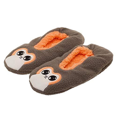 Star Wars Movie Episode 8 Porg Unisex Sherpa Slipper Socks-L/XL