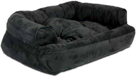 Best Snoozer Overstuffed Luxury Pet Sofa, X-Large, Black
