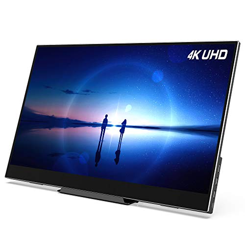 "AOQ Touchscreen 4K UHD 15.6"" Portable Monitor USB-C HD 10-Points Multi-Touch 100% sRGB for Laptop PS5 PS4 Xbox Series X/S"