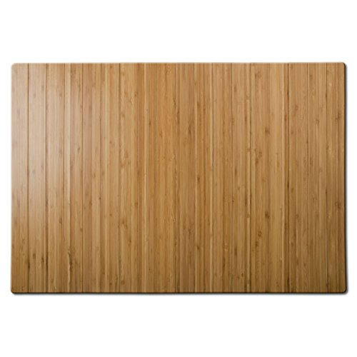 casa pura Tapis de Bain Emma en Bambou | Tapis de Sauna - 2 Coloris | 60x90cm | Dos antiglisse, Nature