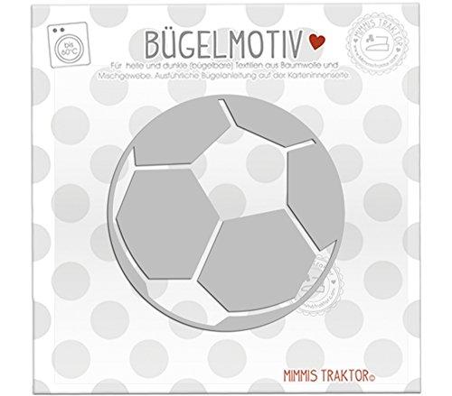 Bügelbild Reflektor Fußball 9 cm x 9 cm SILBER