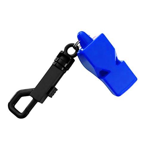 Sharplace Sifflet De Survie De Plongée sous-Marine D'urgence De Plongée sous-Marine avec Clip Instantané - Bleu, 5