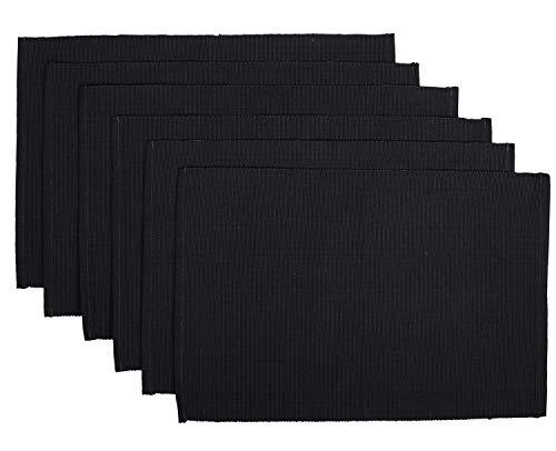 Manteles Individuales de algodón Gris para la Mesa de la Cocina Accesorios de Restaurante Juego de Comedor Fino de 6 - 49 X 33 cm