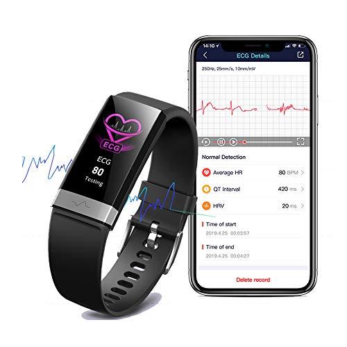 EKG Schlafmonitor Fitness Activity Tracker Wasserdicht Blutsauerstoffsättigung Monitor HRV Herzfrequenz Blutdruckmessgerät für Männer Frauen