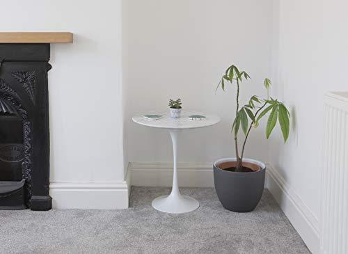 Little Tulip Shop Beistelltisch, rund, Carrara-Marmor, 50 cm, Weiß