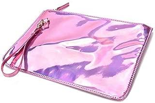 Gimax Top-Handle Bags - Holographic Laser PU Leather Shine Handbag Messenger Bag Envelope Clutch Evening Pink - (Color: Pink)
