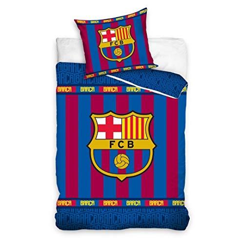 Juego de funda nórdica + funda de almohada, producto oficial del Barcelona 100% algodón 1508