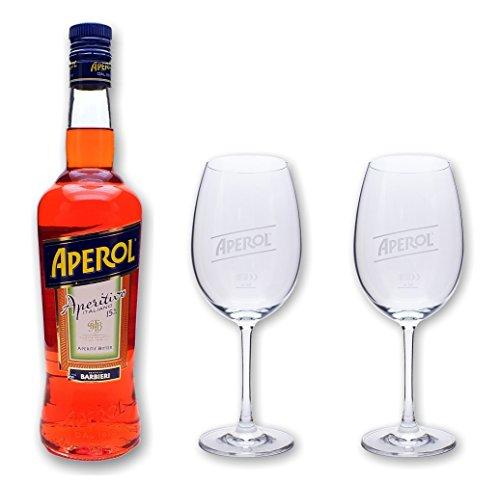 Aperol Aperitivo 15% 0,7l - Set mit 2 original Gläser
