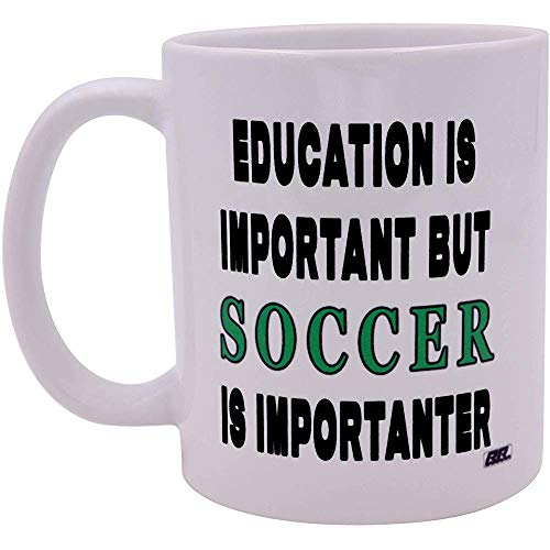 Divertida taza de café sarcástica La educación es importante, pero el fútbol es importante Importanter Cup Novedad Gran idea de regalo para el jugador de fútbol