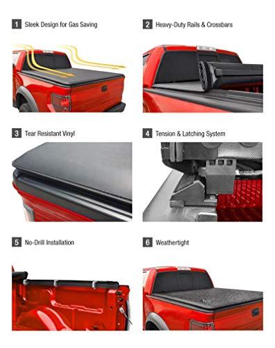 MaxMate Soft Tri-Fold Truck Bed Tonneau Cover Compatible with 2007-2013 Chevy Silverado/GMC Sierra 1500   Fleetside 5.8' Bed