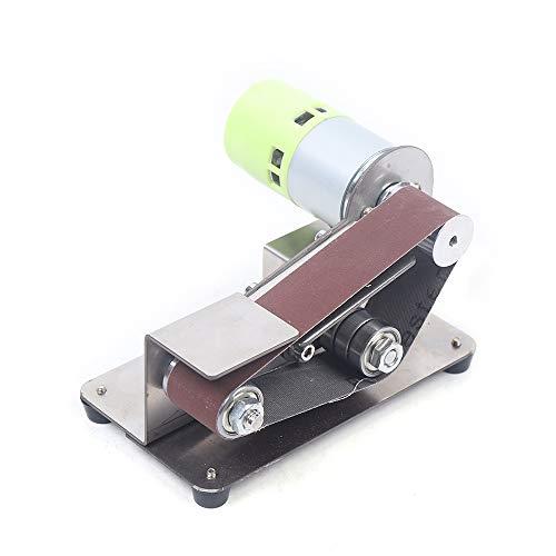 7 Gears Adjustable Stainless Steel DIY Mini Belt Sander Knife Apex Edge Sharpener Polishing Grinding Machine 33030mm Belts Grinder 110-220v 100W best (775 Motor)