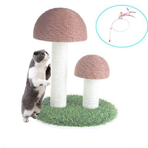 MOUOGO Katzenkratzbaum Pilz Kratzbaum für Kätzchen & Katze Natur Sisal Kratzbaum...