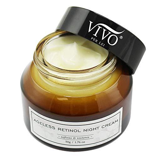 Ageless Retinol Night Cream for Face - Anti Wrinkle Cream with Vitamins A and E, Jojoba and Purslane - Anti Aging Night Cream - 50g / 1.76 oz