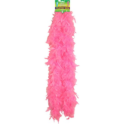 Best Dressed Feather Boa 150cm Perfect For Halloween/Hen Party Fancy Dress-Pink