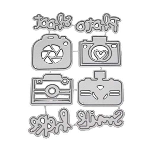 LIANGLIN WU Cutting Dies for Card Making, Camera Metal Die Cuts Stencil DIY Scrapbooking Album Stamp Paper Card Embossing Craft Decor Scrapbooking Die-Cuts