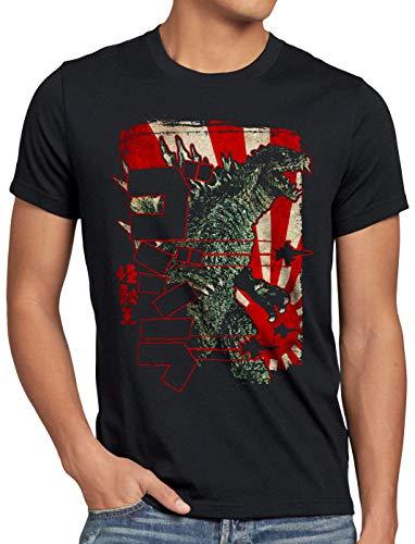 style3 Retro Nippon Gojira Herren T-Shirt Japan Monster Kaiju, Größe:XXXL