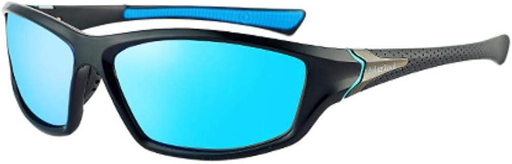 2020 nouvelles lunettes de soleil polarisées lunettes de soleil pour hommes lunettes de soleil carrées vintage pour hommes UV400 lunettes Bleu