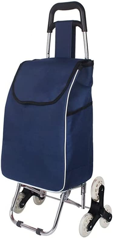 QIAOLI Over item handling ☆ Shopping Cart unisex Stainless Shopp Steel Folding