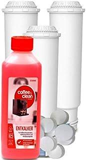 Filtro de agua aqk de 05, alternativa para Claris Bosch, Krups, Siemens, Nivona + Limpiador de Tabs de 2gr. + LÍQUIDO–Antical de 250ml, 3 Filter + 10 Reiniger + 1 Flüssigentkalker