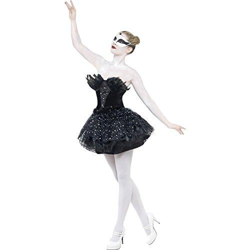 Smiffys-27313M Halloween Disfraz de Cisne Negro gótico, con Vestido, Color, M-EU Tamaño 40-42 (Smiffy'S 27313M)