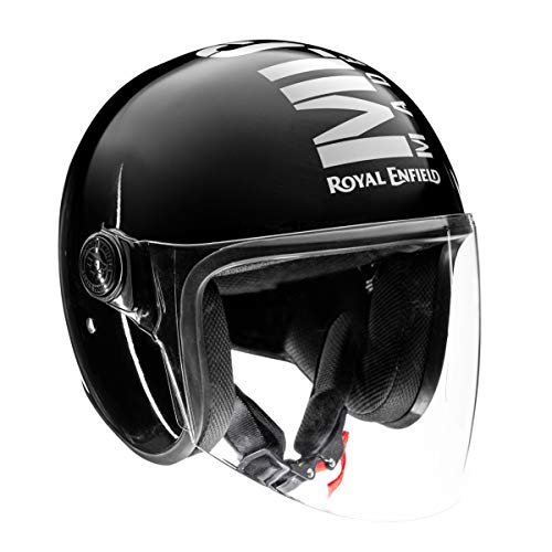 Royal Enfield OP MLG (V) Open Face with Visor Helmet Gloss Black (XL)60 CM (RRGHEM000174)