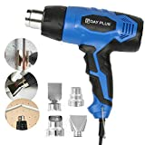 DICN Hot Air Heat Gun 120V 2-Temp Setting 2000W 1022℉/662℉ with Four Metal Nozzle Attachment for Car Wrapping Shrinking PVC Soldering Removing Rusted Bolt Bending Pipes Paint Remover