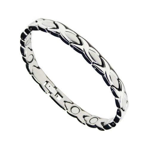 Accents Kingdom Hugs & Kisses Titanium Magnetic Therapy & Healing Bracelet for Arthritis and Carpal Tunnel T9, 7.5