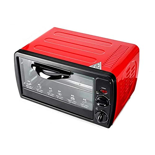 Household Mini Oven with Electric Grill and Hotplates with Grill and Rotisserie Timing Upper and Lower Tube Heating Heat Dissipation Design 12L Mini Ovens