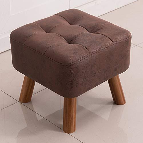 CKH barkruk van hout, vierkant, modieus, stof, kunst, sofa, stoel, woonkamer, kaptafel, stof, kruk Brown