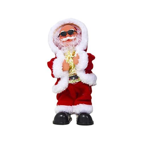 WYJBD Muñeco eléctrico de Navidad de Papá Noel, Juguete Musical para Bailar, Cantar, Lindo muñeco de Peluche de Navidad, Regalo de Año Nuevo para niños, decoración del hogar