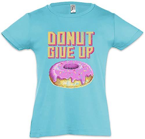 Urban Backwoods Donut Give Up Camiseta para Niñas Chicas niños T-Shirt Azul Talla 10 Años
