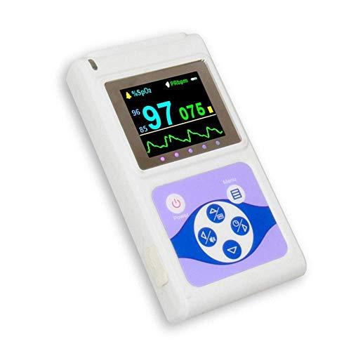 Mobiclinic, CMS60D, Pulsioxímetro digital de dedo, Pantalla OLED, Frecuencia cardíaca y onda plestimográfica, Blanco ✅