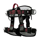 Odoukey- Tool Climbing Harness Safety Thicken Adjustable Half Body Harness for Rock Mountain Tree Climbing <span class='highlight'>Cave</span> Rescue