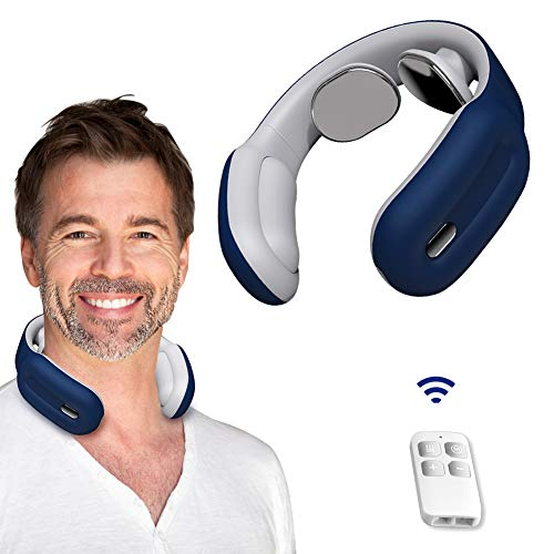 Neck Massager, Hunnay Portable Neck Massager with Heat,Cordless Neck Relax with 3 Modes and 15 speeds, Deep Tissue Massage Electric for Office,Outdoor,Home,Car,Gifts for Women,Man