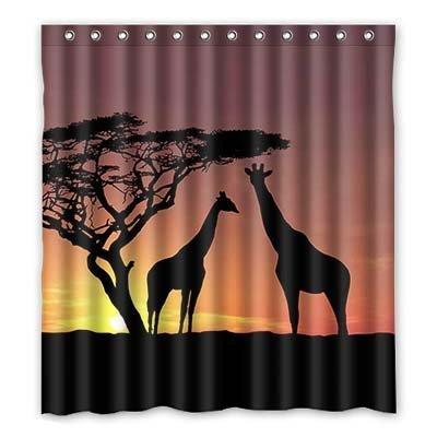 dalliy Custom Giraffe Duschvorhang Polyester 167cm x 183cm, Polyester, C, 168 x 183 cm
