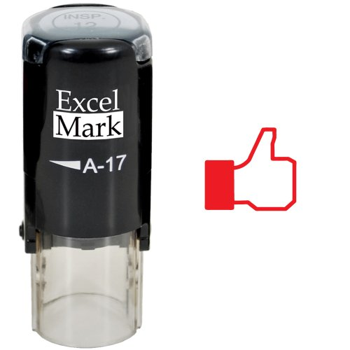 Thumbs Up - ExcelMark Self-Inking Round Teacher Stamp - Red Ink